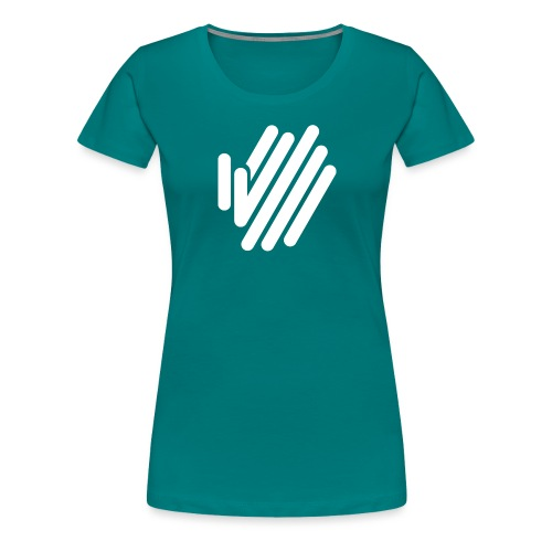 icon white 1x - Women's Premium T-Shirt