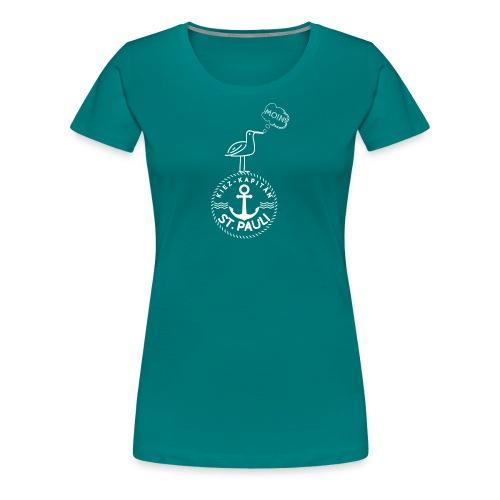 Kiez-Kapitän© St. Pauli Logo - Frauen Premium T-Shirt