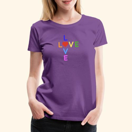 Rainbow Love. Regenbogen Liebe - Frauen Premium T-Shirt