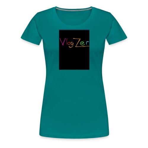 Womens V neck black New - Women's Premium T-Shirt