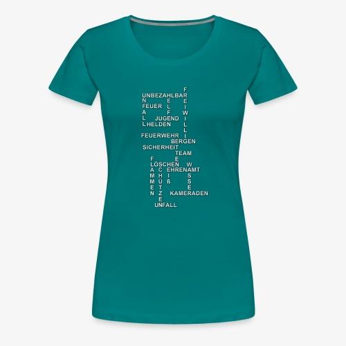 Feuerwehr Wörtersammlung - Frauen Premium T-Shirt