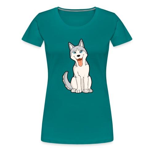 Husky grigio occhi azzurri - Maglietta Premium da donna