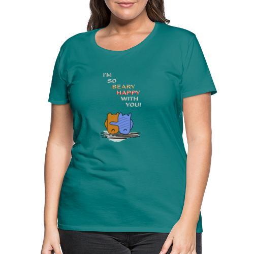Happy Bear - Glücklicher Bär - Frauen Premium T-Shirt