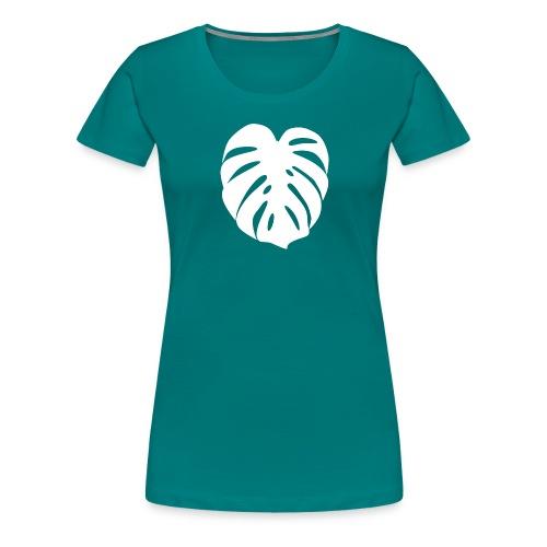 Monstera - Feuille blanche - T-shirt Premium Femme
