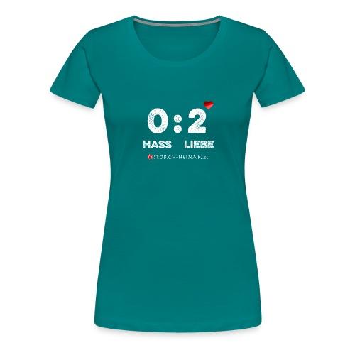 HASS null LIEBE zwei - Frauen Premium T-Shirt