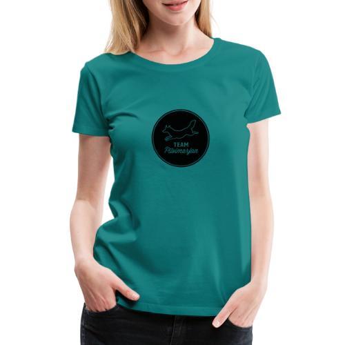 pilvimarjanlogomustaa - Naisten premium t-paita