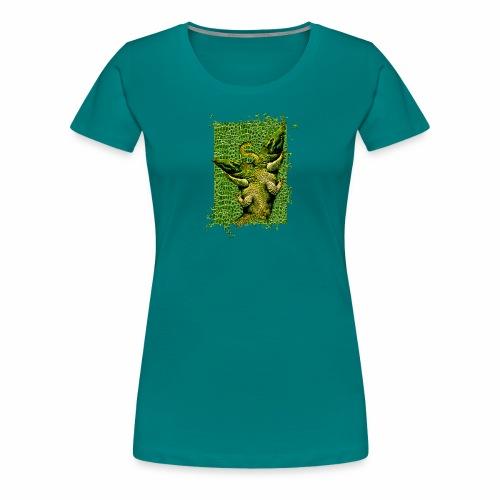 Piel cocodrilo - Crocodile skin - Camiseta premium mujer