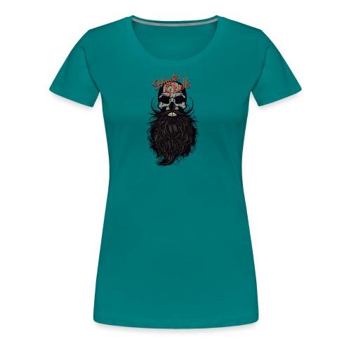 tete de mort hipster skull crane logo barbu barbe - T-shirt Premium Femme