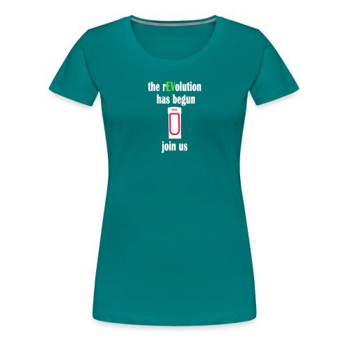 Ladestation Elektroauto E-Auto rEVolution Shirt - Frauen Premium T-Shirt