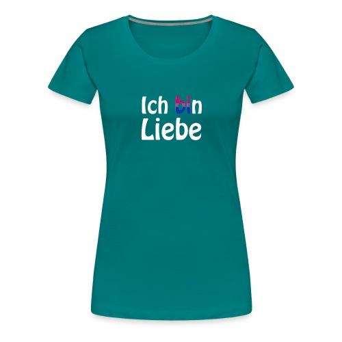 Ich (bi)n Liebe - Bisexualität - LGBT - Queer - Frauen Premium T-Shirt