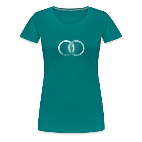 Símbolo abstracto de dos círculos unidos - Camiseta premium mujer