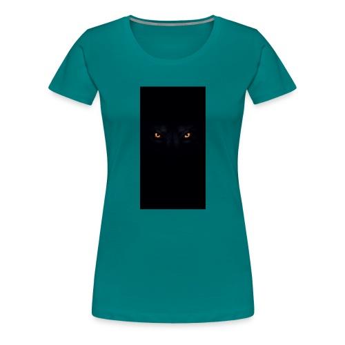 black-wolf-eyes - Frauen Premium T-Shirt