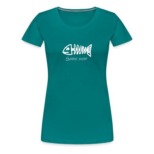 Motiv Fisch-Skelett für Angler - Frauen Premium T-Shirt