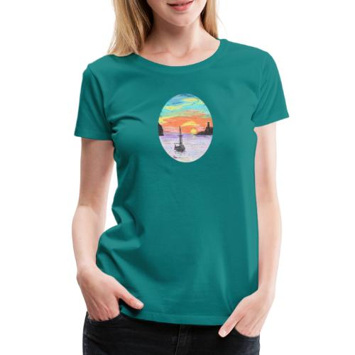 Port de Sollers Sonnenuntergang - Frauen Premium T-Shirt