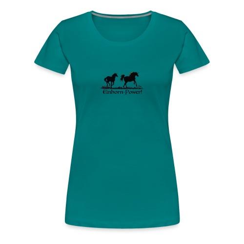 Einhorn-Power - Frauen Premium T-Shirt