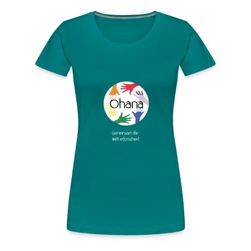 Logo mit weißem Text - Frauen Premium T-Shirt