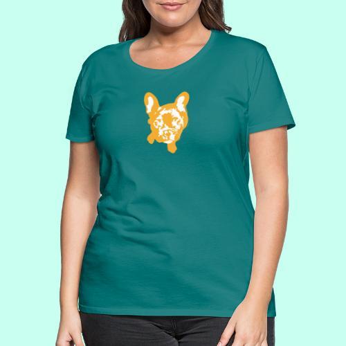 Bulldogge Beige schauend - Frauen Premium T-Shirt