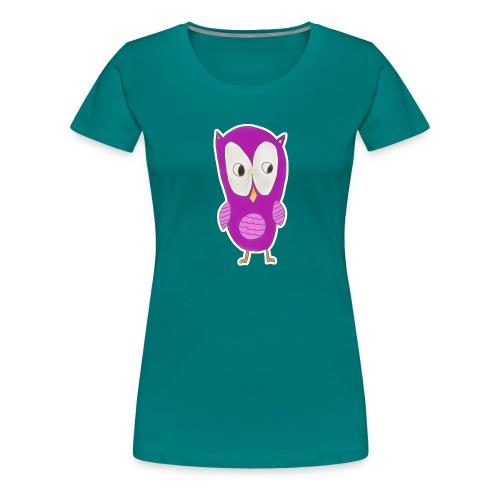 Astrids ugle - Dame premium T-shirt