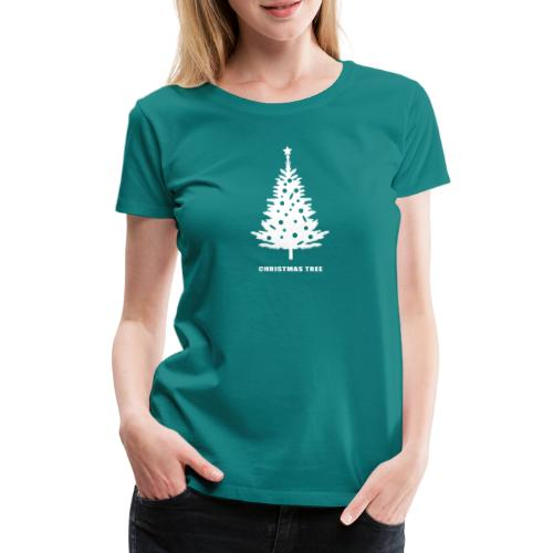 christmas tree, christmas, new year, rockefeller - Women's Premium T-Shirt