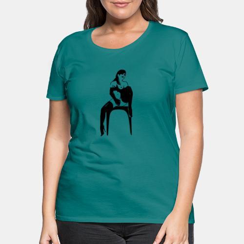 girl masterbate 1 color - Frauen Premium T-Shirt