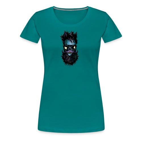 tete de mort lunette hipster crane skull soleil ba - T-shirt Premium Femme