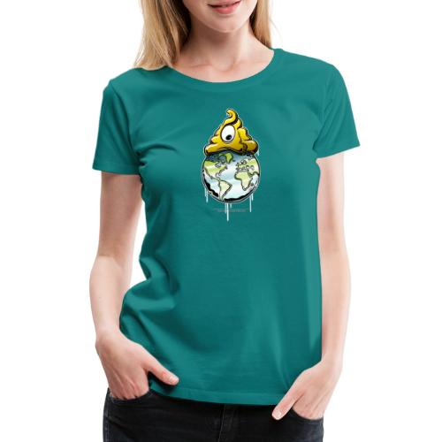shit rules the world - Frauen Premium T-Shirt