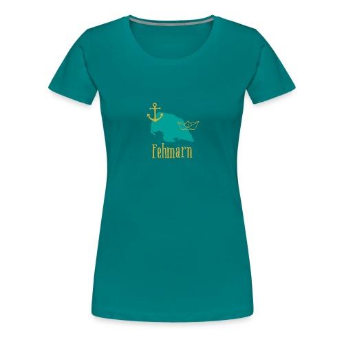 Fehmarn türkis gold Anker Boot - Frauen Premium T-Shirt