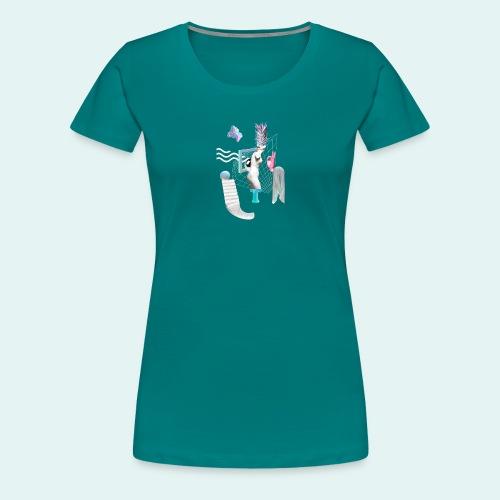 Virtual plaza - Dame premium T-shirt