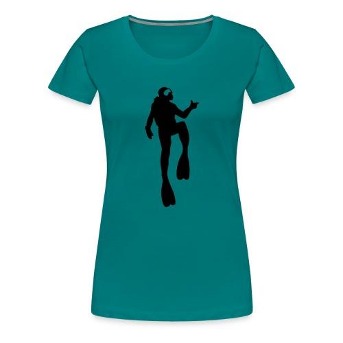 Taucher - Frauen Premium T-Shirt