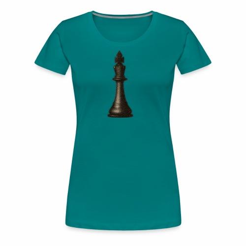 King / Queen chess logo premium wear - Frauen Premium T-Shirt