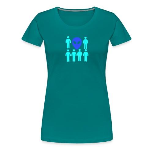 Extraterestre y Humano - Camiseta premium mujer