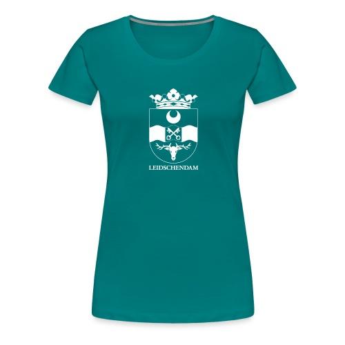 Leidschendam oude wapen wit diapositief - Vrouwen Premium T-shirt