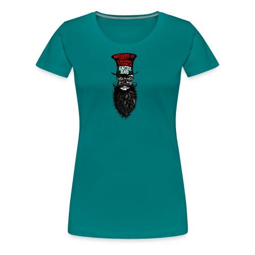 tete de mort hipster chapeau crane skull citation - T-shirt Premium Femme