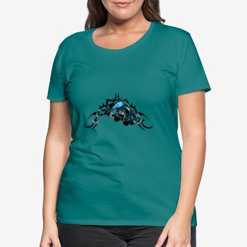 moto-bobber-tribal-flower - T-shirt Premium Femme