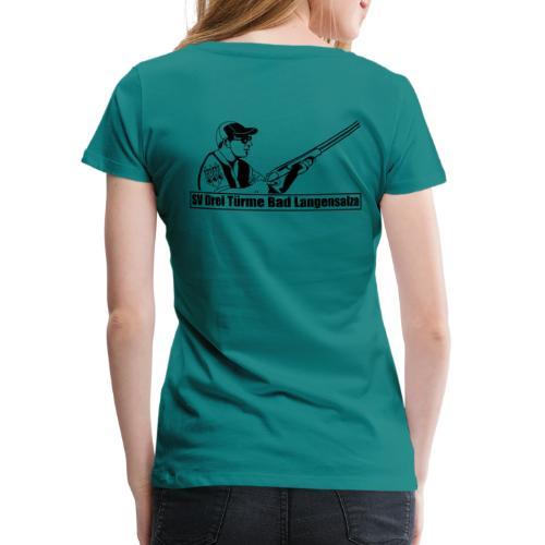 Logo auf dem Rücken - Frauen Premium T-Shirt