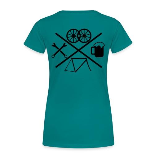 Cross Bike - Frauen Premium T-Shirt