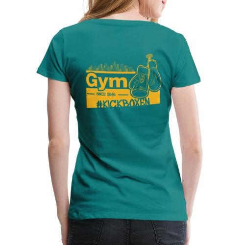 Gym Druckfarbe Orange - Frauen Premium T-Shirt