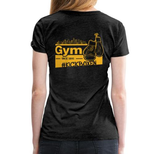 Gym Druckfarbe Orange - Frauen Premium T-Shirt