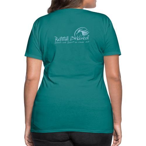 Schriftzug mit Logo - Frauen Premium T-Shirt