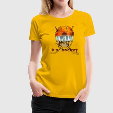 skull hockey - Koszulka damska Premium