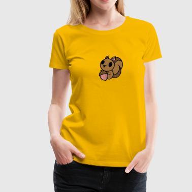 Eichhörnchen mit Eichel - Frauen Premium T-Shirt