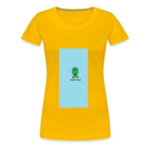Women's Short - Sleeved Top with Turtle Design - Women's Premium T-Shirt