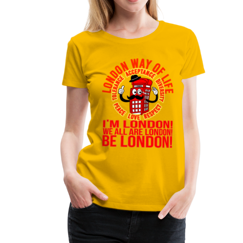 Londi London Mascot Design No 10 - Women's Premium T-Shirt