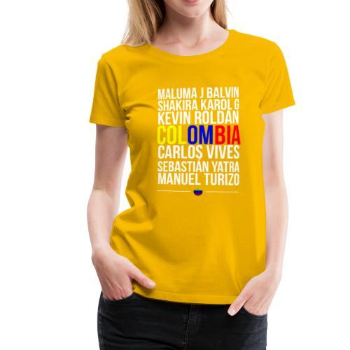 Reggaeton Shirt Kolumbien - Frauen Premium T-Shirt