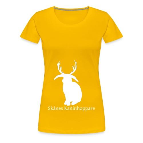 Herr t-shirt - Vit logga - Premium-T-shirt dam