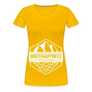 Winterhappiness Logo - Premium T-skjorte for kvinner