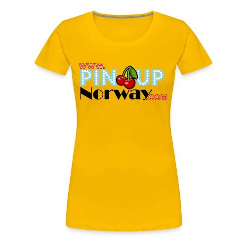 www.pinupnorway.com - Premium T-skjorte for kvinner