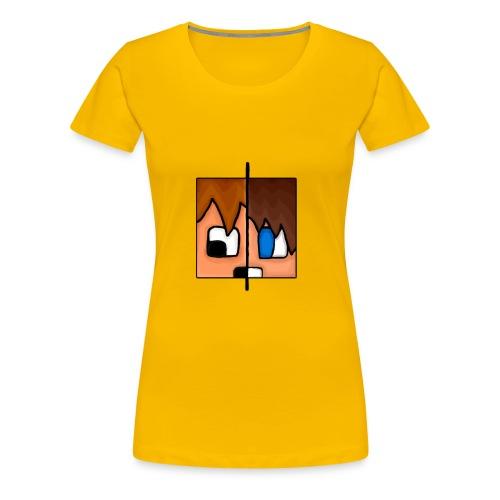 To Menn, Ett Hode (Dame) - Premium T-skjorte for kvinner