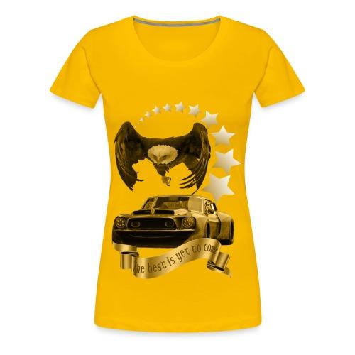 Das beste kommt noch gold - Frauen Premium T-Shirt