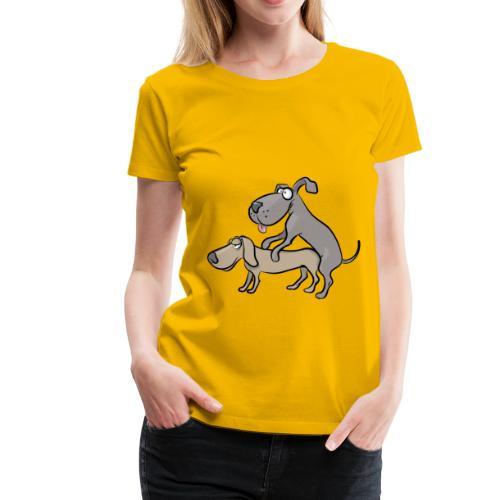 Un couple de chiens en train de faire l'amour - T-shirt Premium Femme